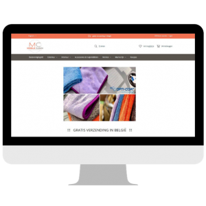 Mobile Clean - Webshop view mockup
